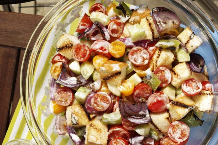 Grilled White Bread Country Salad