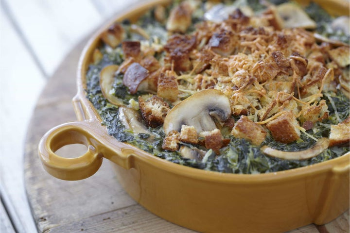 Homestyle Spinach and Mushrooms