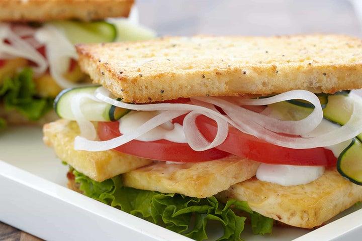 Hot Vegetarian Ranchwich