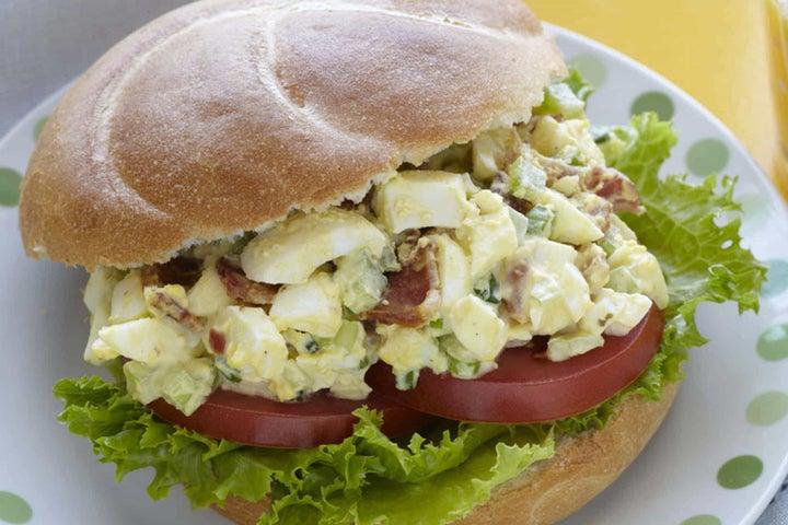 Jalapeño Bacon Ranch and Egg Salad Sandwich
