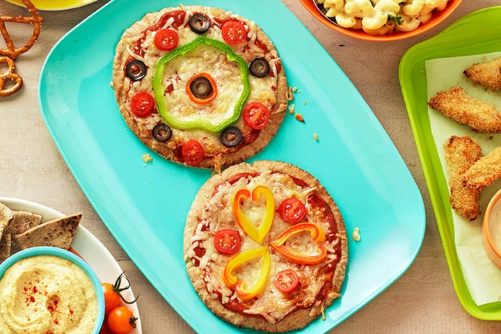 Kid-friendly Veggie Pizzas