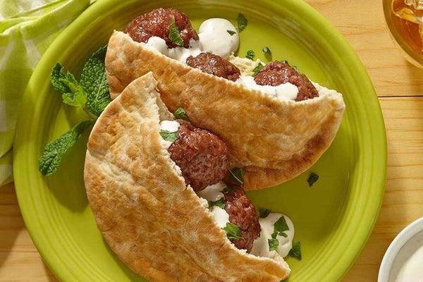 Lamb Meatballs in Pita