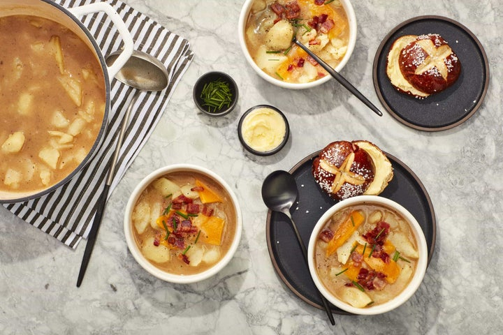 Loaded Baked Potato Soup with Ranch