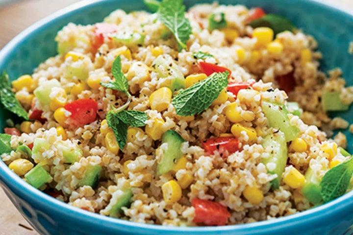 Mint and Corn Tabbouleh Grain Salad