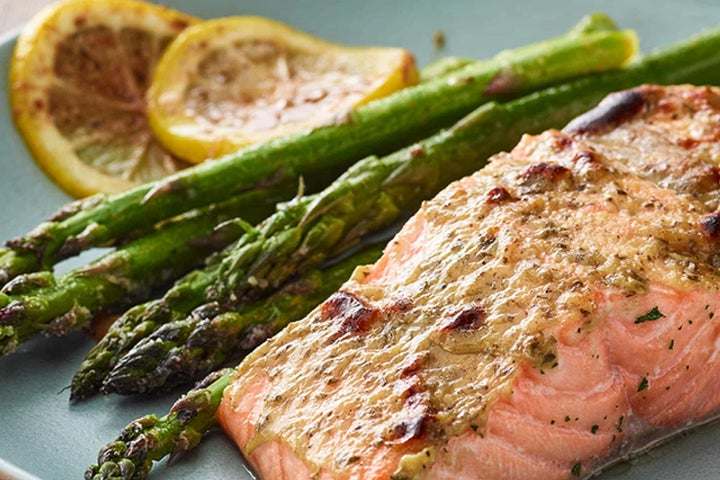 Mustard-Ranch Broiled Salmon