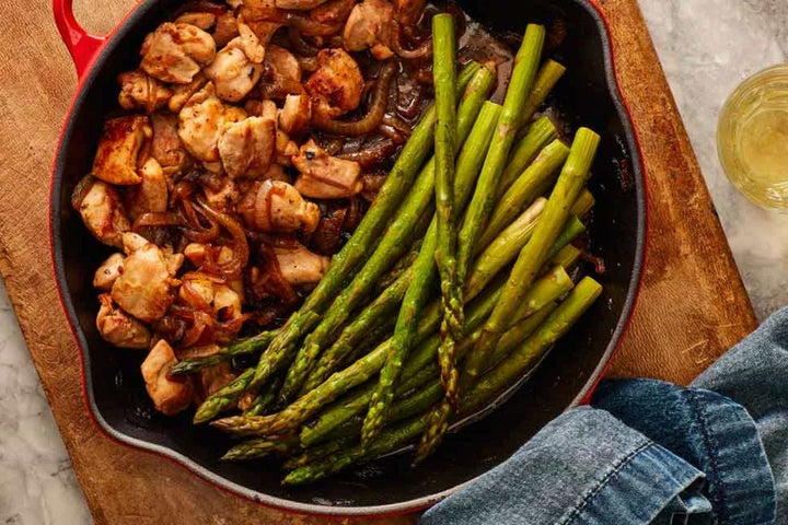 One Pan Ranch Chicken and Asparagus