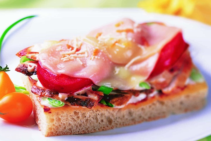 Open-Faced Italian Focaccia Sandwich