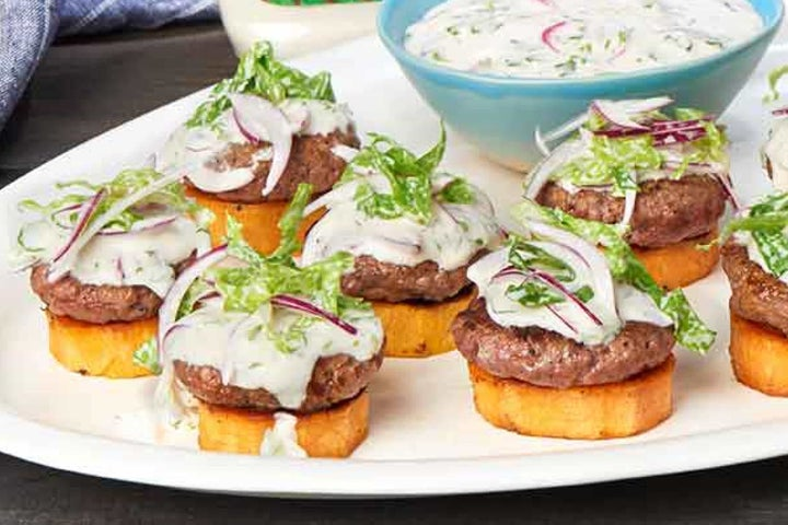 Open-Faced Sweet Potato Stack with Classic Slider Sauce