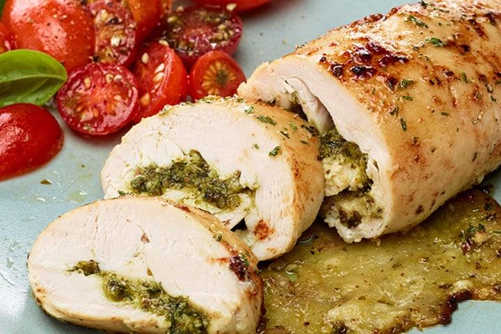 Pesto-Ranch Chicken Rolls