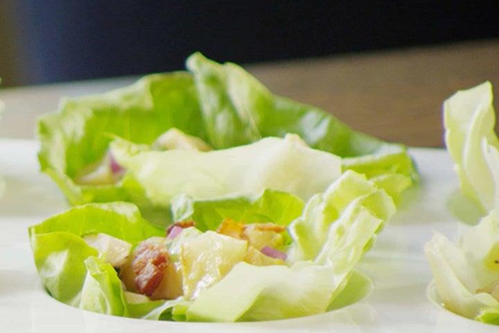 Picnic Potato and Chicken Salad Cups