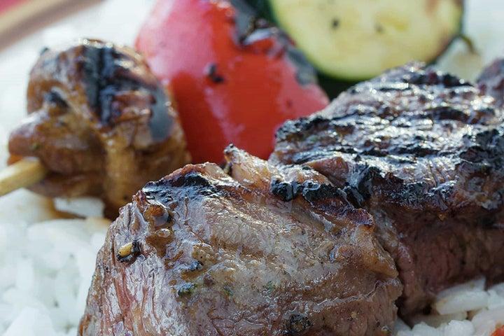 Beef & Vegetable Skewers