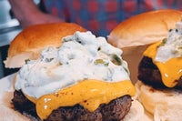 Ranch Spice Crusted Burger with Avocado Ranch Sauce