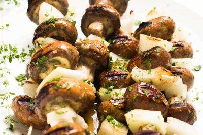 Ranch and Garlic Mushroom Kabobs