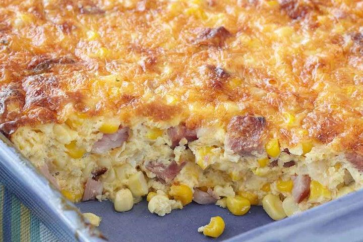 Ham & Corn Brunch Casserole
