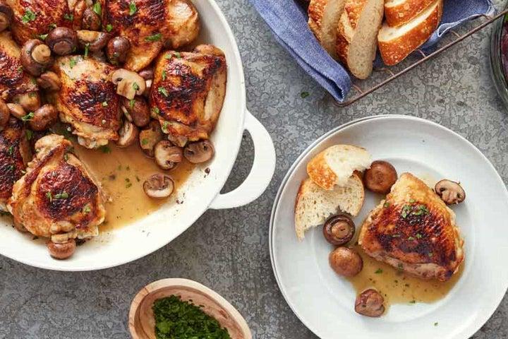 Ranch and Mushroom Chicken Thighs