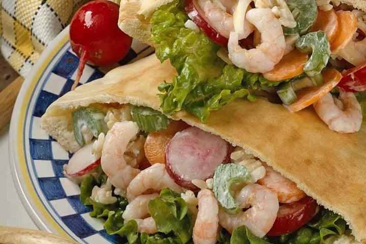 Shrimp Pocket Bread Sandwiches