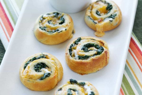 Spinach and Cheese Spirals