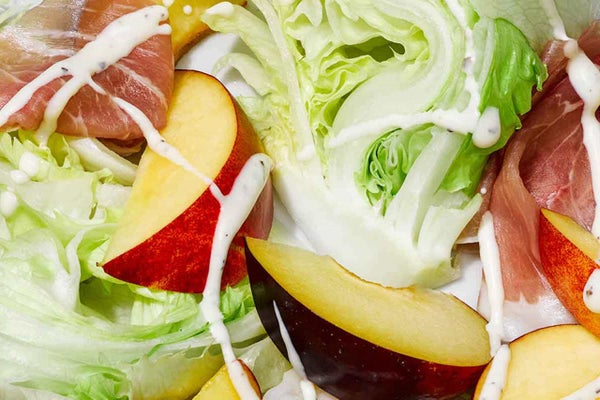 Wedge Salad with Prosciutto & Stone Fruits