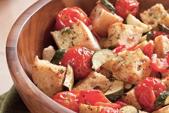 Roasted Vegetable Bread Salad