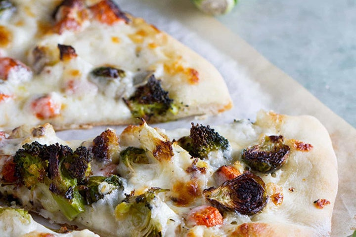 Roasted Vegetable Pizza with Ranch