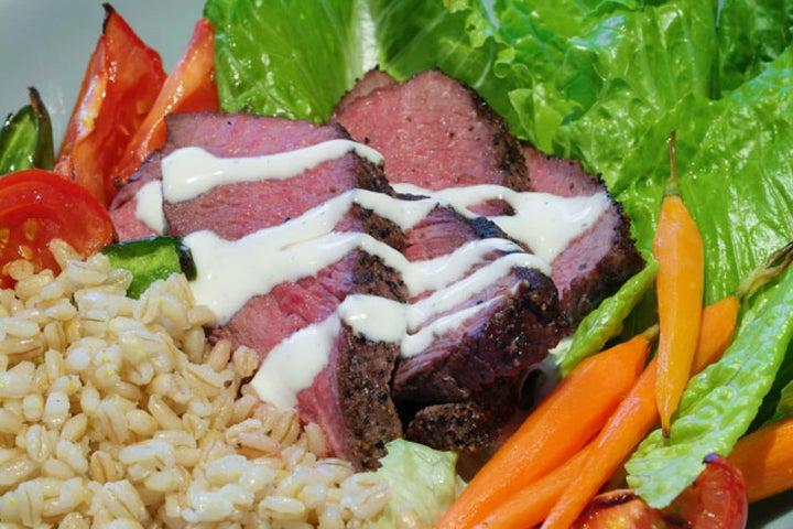 Sirloin Steak and Roasted Vegetable Salad