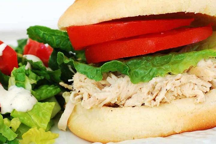 Slow Cooker Cilantro Lime Chicken Sandwiches