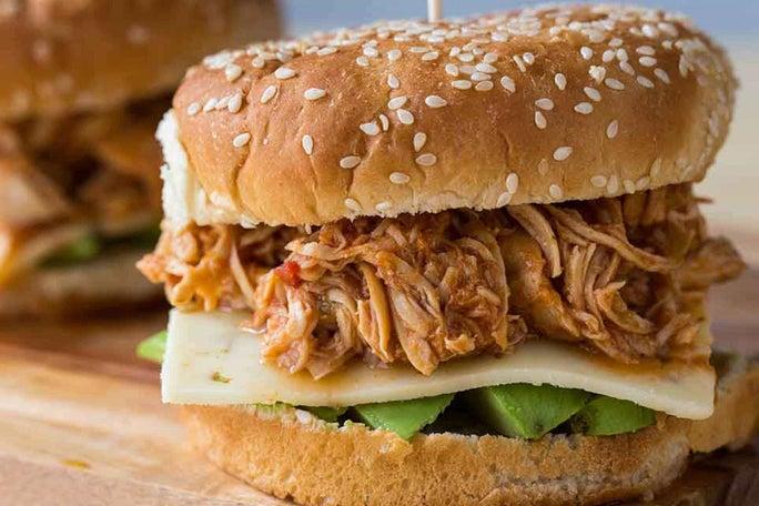 Spicy Ranch Pulled Chicken Sandwiches
