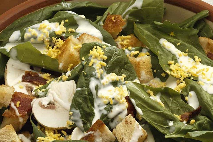 Spinach, Bacon and Mushroom Salad