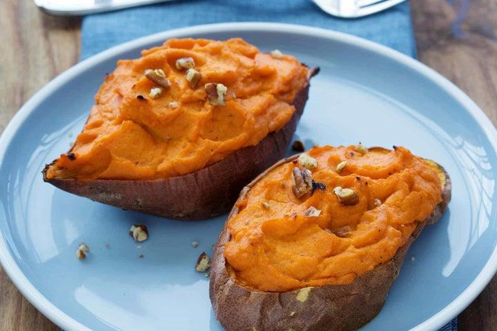 Stuffed Carrot Sweet Potatoes