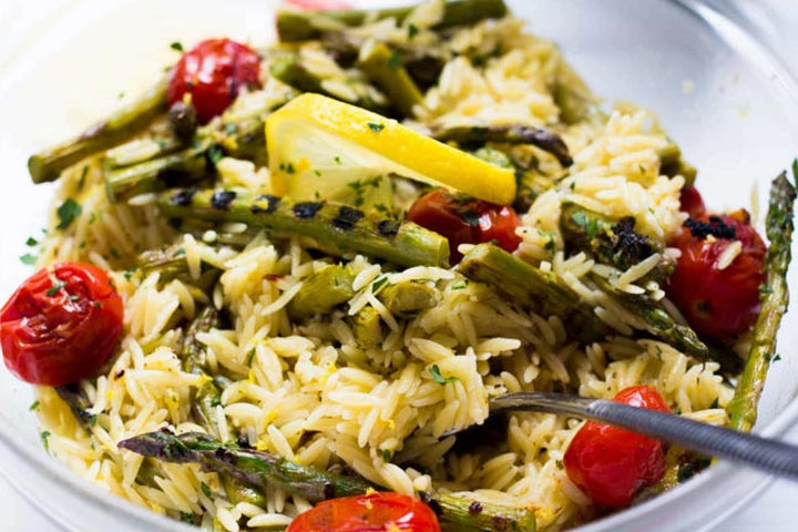 Zesty Asparagus and Tomato Orzo