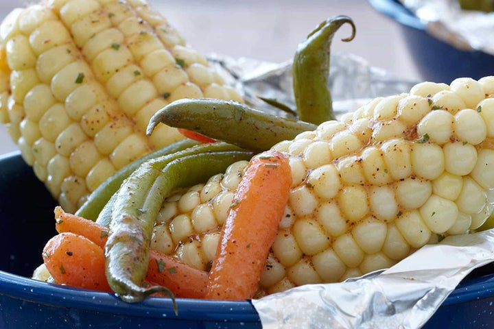 Zesty Grilled Mixed Veggie Bundles