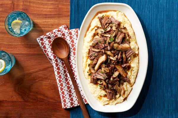 How to Make Polenta with Mushroom and Beef
