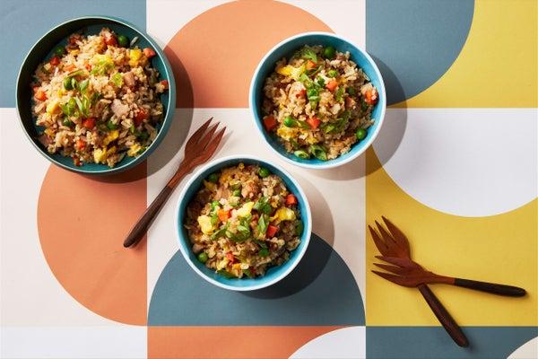 Fried Rice with Leftover Mississippi Pork Chops