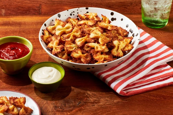 Bowtie Pasta Chips with Ranch