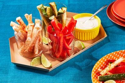 Veggie Appetizer Cups with Tajín® & Ranch Seasonings