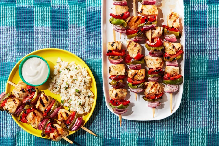Grilled Chicken Skewers with Vegetables