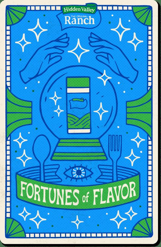 Fortunes of Flavor backside card